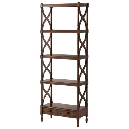 Cinq Etagere with 2 Drawers