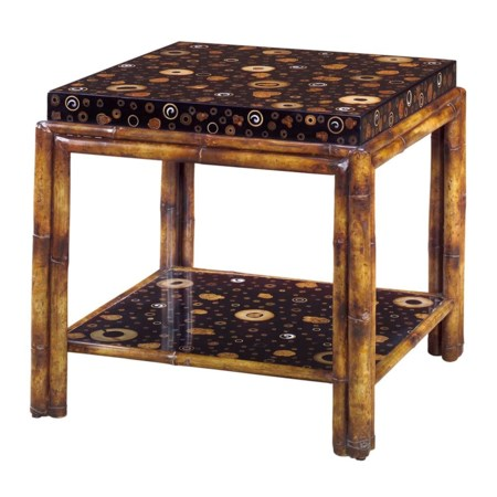 Bamboo Twig End Table