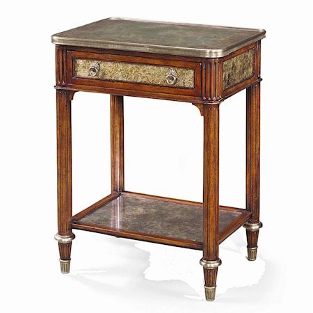 Rectangular Paneled Side Table