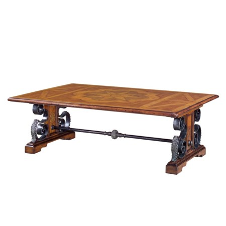 Rectangular Parquetry Top Cocktail Table