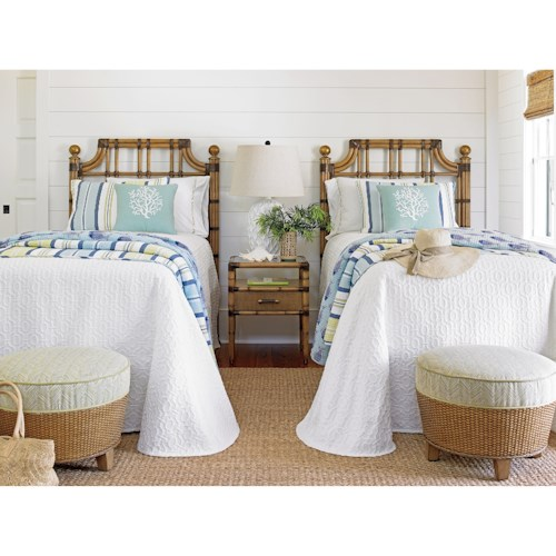 home bedroom groups tommy bahama home twin palms twin bedroom group