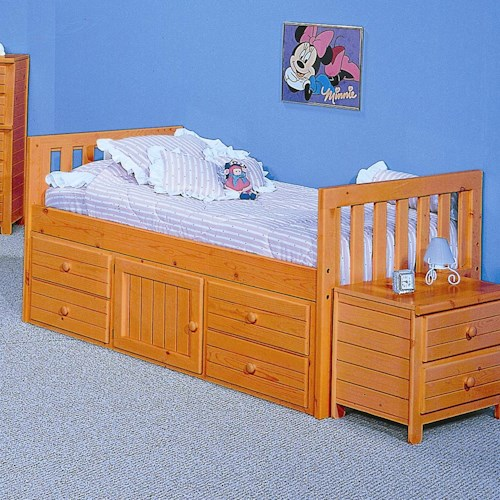 Trendwood Bayview Full Captain 39 S Bed Sheely 39 S Furniture Appliance Captain 39 S Bed