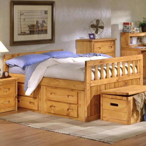 Trendwood Bunkhouse Full Bayview Captain 39 S Bed Boulevard Home Furnishings Captain 39 S Beds