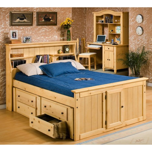 Trendwood Sedona Full Bookcase Bed With Underdresser Sheely 39 S Furniture Appliance Captain