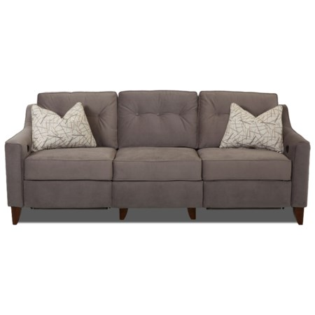Contemporary High Leg Power Reclining Sofa