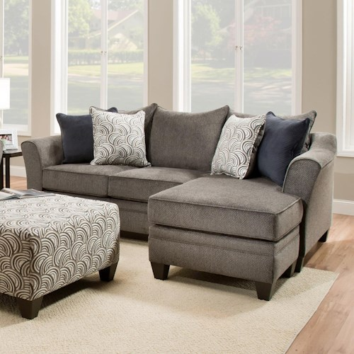 Sectional Sofa Couch Reversible Chaise Ottoman Furniture: United Furniture Industries 6485 Transitional Sofa Chaise