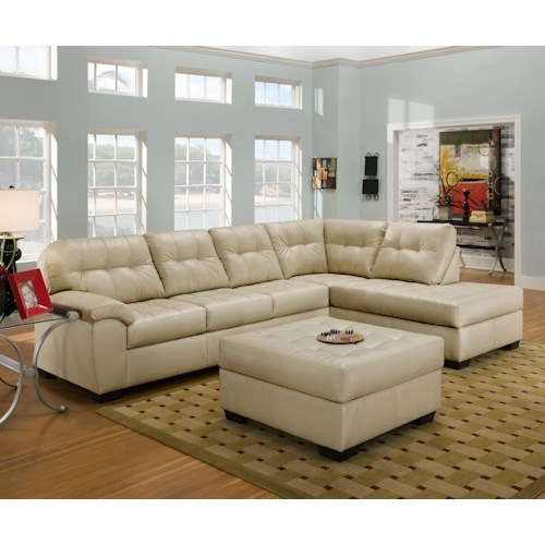 United furniture industries 9568 casual sectional sofa for Sectional sofa furniture fair