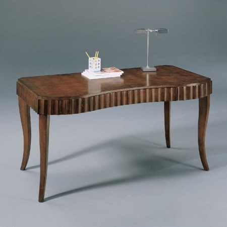 Curved Front Four Leg Wood Top Writing Desk with One Curved Drawer