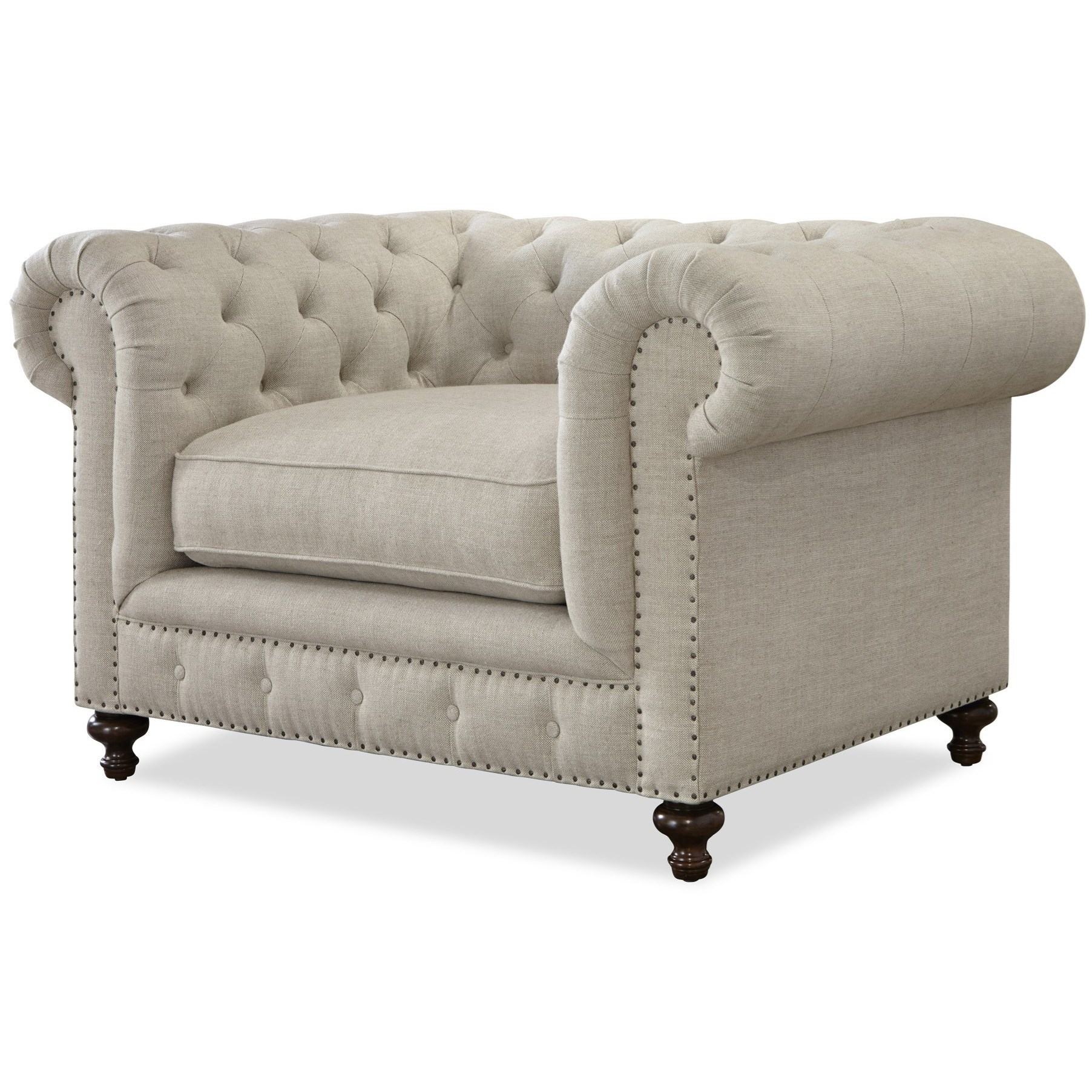 Universal Berkeley Button Tufted Chair With Nailhead Trim