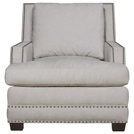 Upholstered Chair in Performance Fabric