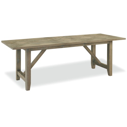 Sdi7 curated chelsea kitchen table with trestle base for Dining table nashville tn