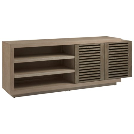 Contemporary Emory Entertainment Console with Adjustable Shelves
