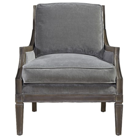 Crosspoint Accent Chair with Wood Outer Back