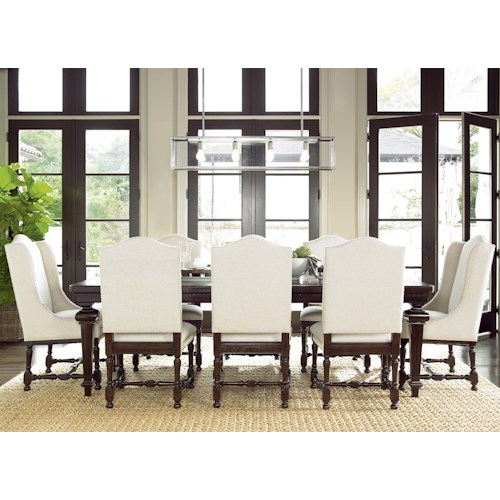 Universal proximity dining set with rectangular table and for Dining room tables 9 piece