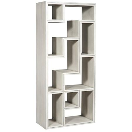 Contemporary Open Back Bookshelf Console Table