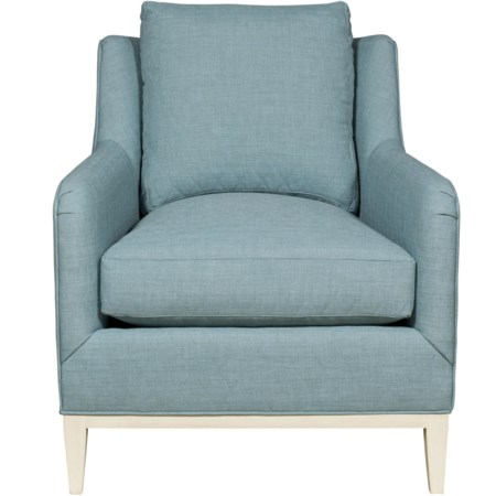 Contemporary Chair with Tapered Feet