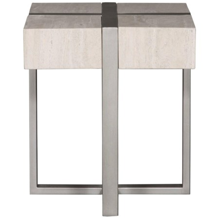 Stone Veneer Side Table