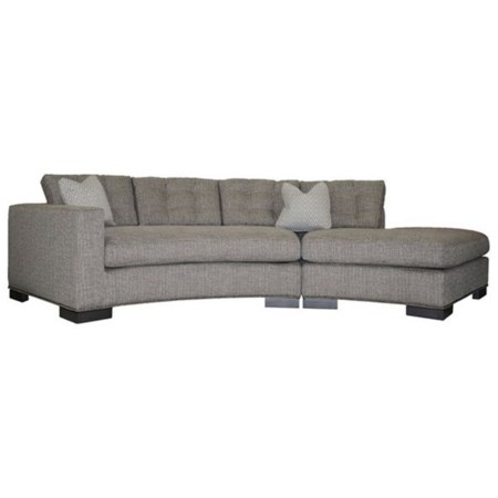Transitional Loveseat with Chaise