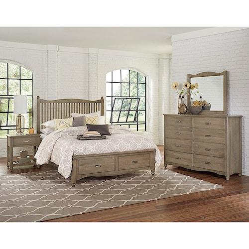 home bedroom groups vaughan bassett american maple queen bedroom group