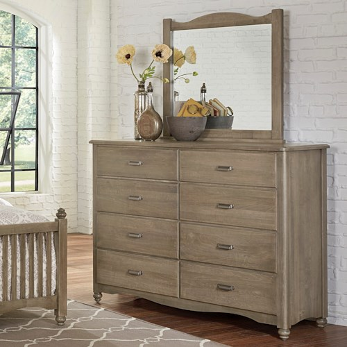 Solid wood bureau landscape mirror american maple by for Solid maple wood bedroom furniture