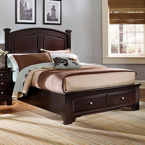 vaughan bassett hamilton king panel storage bed belfort furniture platform beds low profile beds. Black Bedroom Furniture Sets. Home Design Ideas