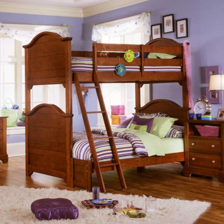 Bunk Bed with Full Size Extension and Ladder