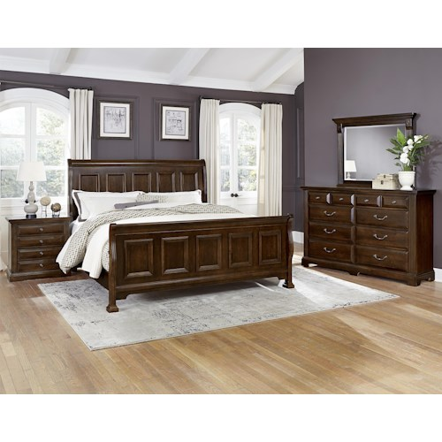 vaughan bassett woodlands queen bedroom group belfort