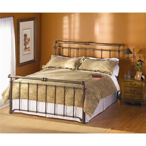 Wesley allen iron beds sheffield iron sleigh bed wayside for Iron bedroom furniture