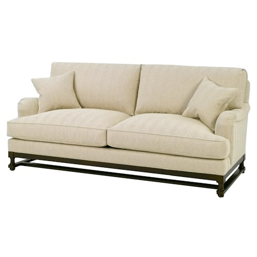 Wesley Hall 1902 Stationary Sofa With Wood Base Design