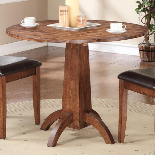 Winners only broadway single pedestal drop leaf table for Kitchen table only