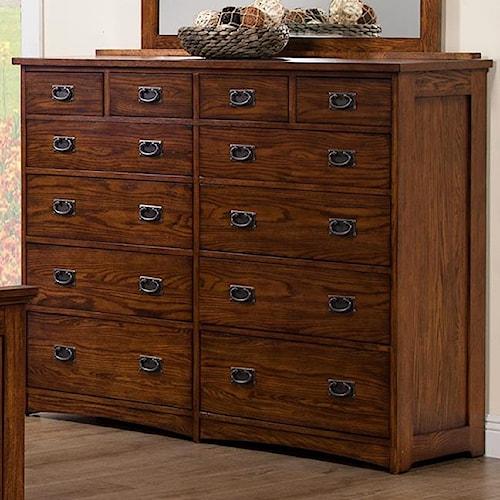 Colorado Tall 12 Drawer Dresser Rotmans Dresser Worcester Boston Ma Providence Ri And