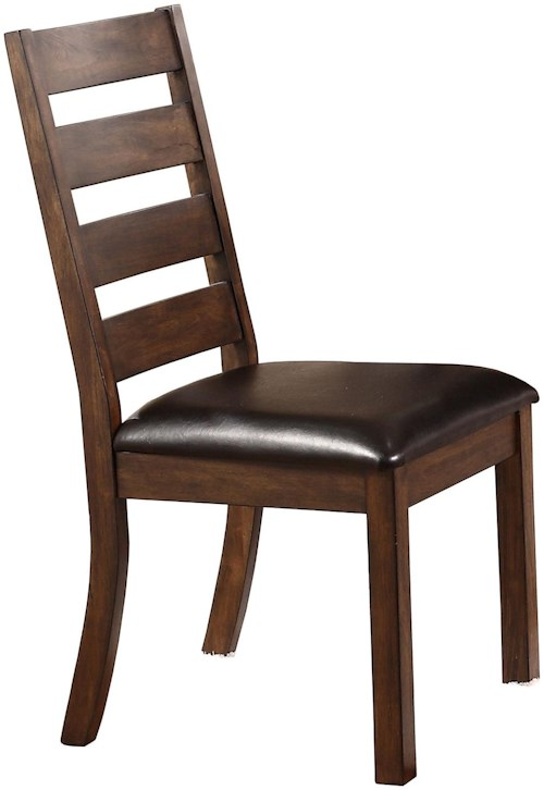 Kendall ladder back side chair with upholstered seat for Furniture 0 percent financing