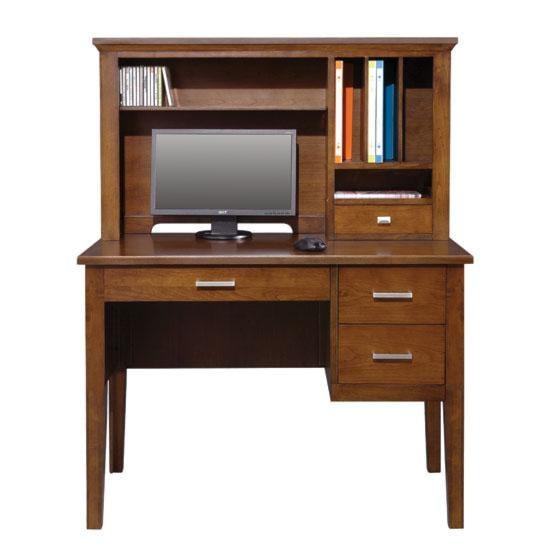 "Perception 42"" Single Pedestal Desk and Hutch Rotmans"