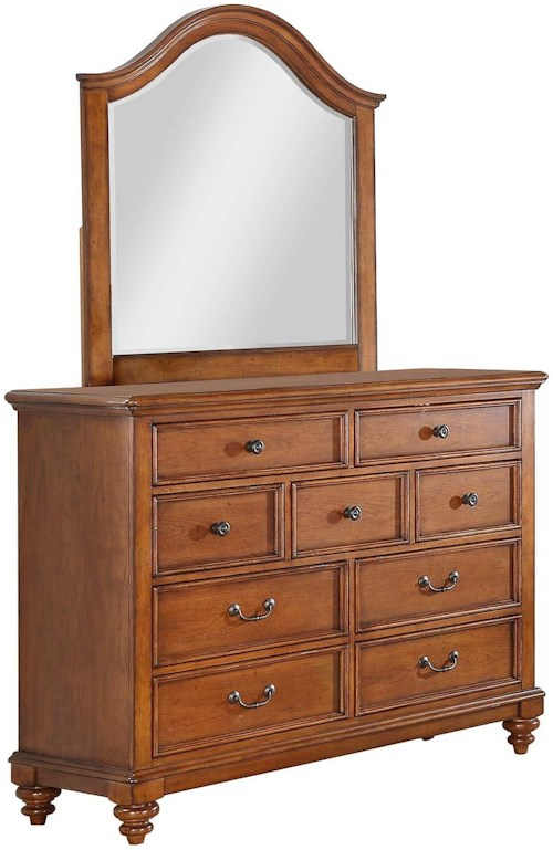 Palm beach 9 drawer youth dresser and mirror set rotmans for Furniture 0 percent financing