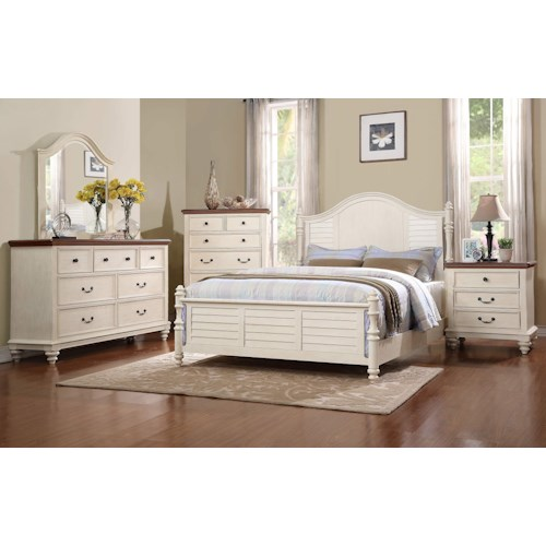 Winners Only Palm Beach King Bedroom Group Knight Furniture Mattress Bedroom Groups