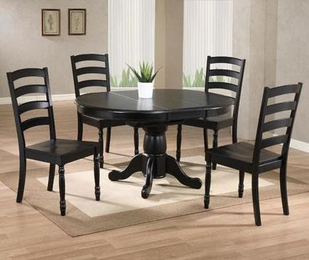 Winners Only Quails Run 5 Piece Round Pedestal Table And