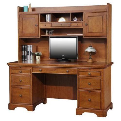 topaz double pedestal desk and hutch rotmans desk