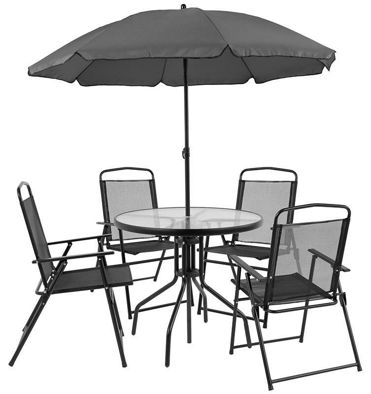 Patio Sets Outdoor Dining Set With 4 Folding Chairs Ta