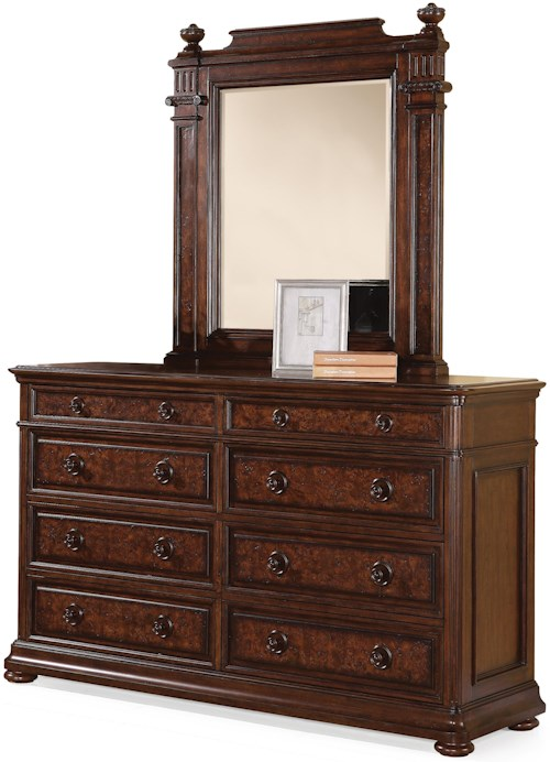 Flexsteel wynwood collection aberdeen 8 drawer dresser for Furniture 0 percent financing