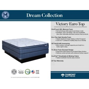 View Dream Victory Euro Top Mattress Collection
