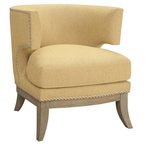 Coaster Accent Seating Barrel Back Upholstered Chair Fine Furniture