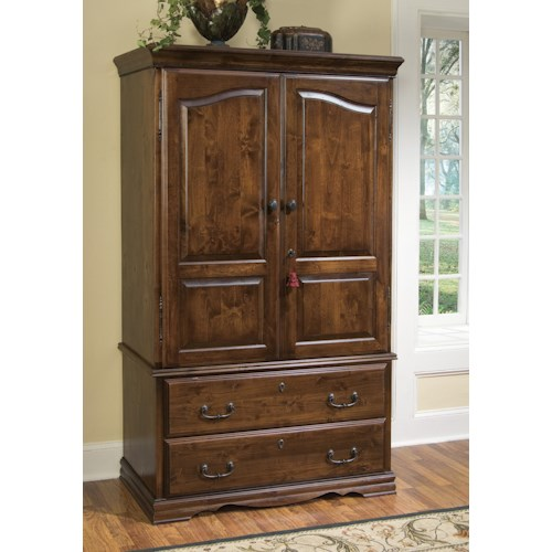 Furniture Traditions Alder Hill Armoire With 2 Bottom Drawers