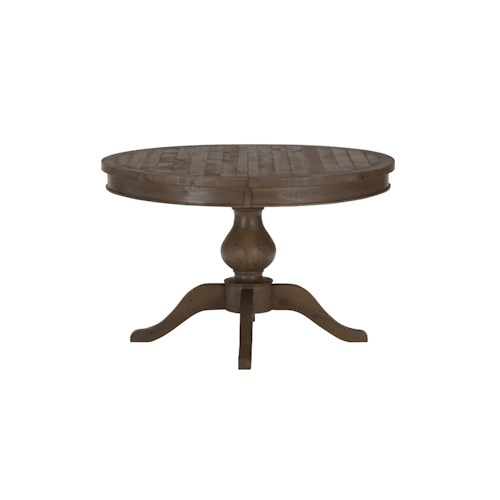 Jofran Slater Mill Pine Reclaimed Round To Oval Dining